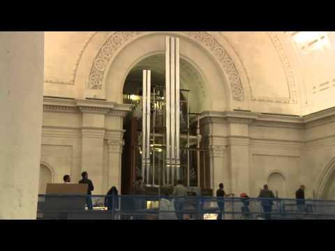 Montagem do novo órgão da Basílica de Nossa Senhora do Rosário de Fátima