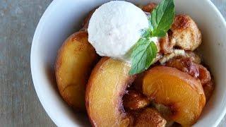 Peach Cobbler Bake by Tasty