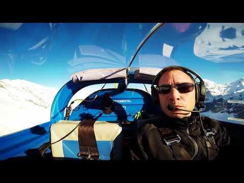 VansAircraft RV-7 rocking the swissalps , snow, mountans aerobatics (видео)