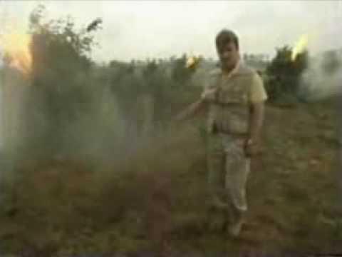 Reportero español en quema de marihuana