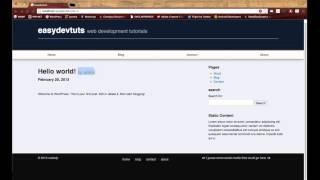 WordPress Development Tutorials - Pt 9 : HTML CSS To Theme - Single Post Template
