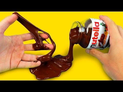 DIY NUTELLA SLIME II 6 AWESOME LIFE HACKS! (видео)