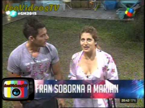 Francisco soborna a Marian con tirarle un sapato GH 2015 #GH2015 #GranHermano