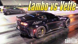 World's Fastest Z06 vs Underground Lamborghini by High Tech Corvette
