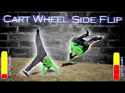 side - Learn the cart wheel and how to do a cart wheel to side flip. A fun free running combo Checkout my Website: http://www.ronniestreetstunts.com Featured Parkour Channels in this video: Yuhan...