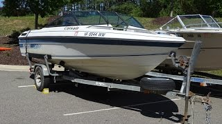 8. 1988 Sunbird 17' Fiber Glass Boat with Trailer Video Preview.