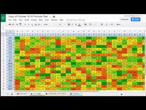 Customisable FPL Fixture Tracker 15/16