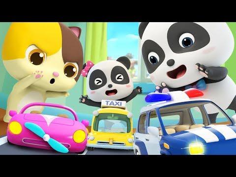 Toy Car Race | Police Car, Fire Truck, Ambulance | Nursery Rhymes | Kids Songs | BabyBus