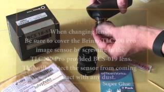 DIY IR-Cut filter installation for CS lenses used with Brinno TLC200 Pro