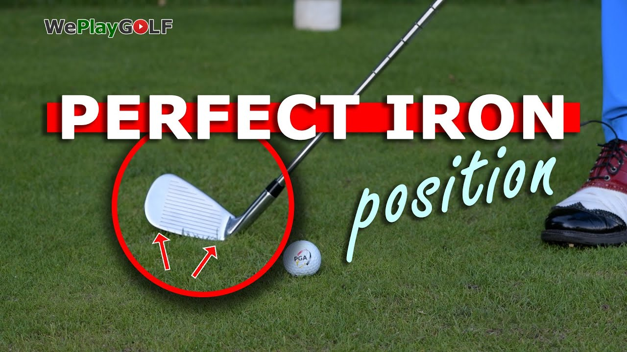 How to set your iron on the ground at address