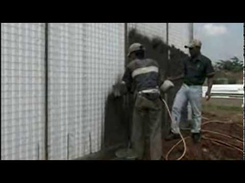 Cara plester panel dinding dengan sprayer