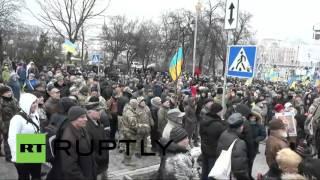 Антиправительственный митинг на Майдане в Киеве