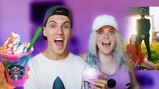 STARBUCKS UNICORN FRAPPUCCINO TASTE TEST & LUST FOR LIFE BY LANA DEL REY REACTION