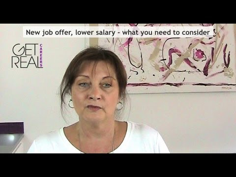 New job offer, lower salary   what you need to consider