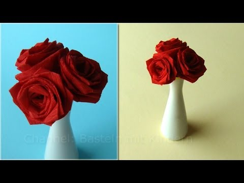 Basteln mit Kindern: Rosen basteln – Blumen DIY