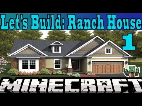 Let 39 s build a ranch style house minecraft project for Build a ranch home