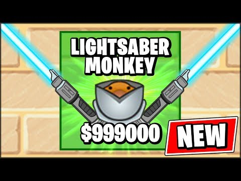 *NEW* Bloons TD Battles LIGHTSABER MONKEY // Bloons TD Battles Mod (Special Edition)