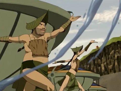 Foggy Swamp style Waterbending & Plantbending All scenes from ATLA