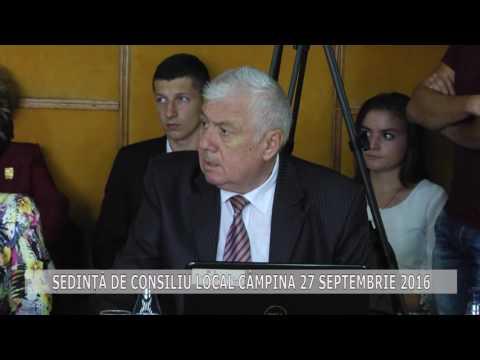 Ședința Consiliului Local Câmpina din 27 septembrie 2016