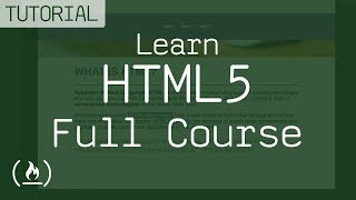 Learn HTML5 - full course with code samples