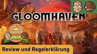 """In dieser Wunschrezension unserer Patreons schauen wir uns das epische """"Gloomhaven"""" an und sind durchaus geteilter Meinung.▶Fazit ab Minute:  36:50▶Kanal abonnieren: http://www.youtube.com/user/hunterundcron?sub_confirmation=1▶Homepage: http://www.hunterundcron.de▶Brettspiele bei Spiele-Offensive kaufen: http://bit.ly/1spkvqX▶Brettspiele bei Amazon kaufen: http://amzn.to/1pcOP14▶Brettspiele bei Milan-Spiele kaufen: http://bit.ly/1D2l8vwDurch das Benutzen dieser Partnerlinks beim Spielekauf kannst Du unsere Arbeit unterstützen. Dir entstehen dabei keine zusätzlichen Kosten. Vielen Dank.GLOOMHAVENvon Isaac ChildresCephalofair Games (2017)Altersempfehlung: ab 12 JahrenSpieleranzahl: 1-4 SpielerSpielzeit: 90-150 Min.Preis: ca. 150,- € (Import?)▶Auf Patreon kannst Du uns dauerhaft unterstützen: https://www.patreon.com/hunterundcron▶Unsere T-Shirts gibt es hier: http://www.hunterundcron.de/shopHUNTER 8,1/10+ Episches Pen&Paper Rollenspiel als Brettspiel+ Sehr lang motivierend durch Legacy und große Quests+ Tolle Flavortexte, unverbrauchtes Setting+ Spielmaterial für Jahre+ Sehr gut balanziert für verschiedene Spieleranzahl- Der Dungeon-Grind bleibt der Kern des Spiels und ist für mich zu langwierig und zu kompliziert. - Ohne Dungeonmaster ist mir das Monsterbashing irgendwie zu eintönig.- Aktionssystem ist innovativ, schränkt mich aber zu sehr ein.- Legacy-Aspekt wäre auch ohne dauerhafte Veränderung des Spielmaterials möglich gewesen.- Für Spieler mit genug Zeit und Lust auf unzählige Dungeons das perfekte Spiel - leider nicht für mich. Trotzdem Hut ab.CRON 9,4/10+ Wow, was für ein episches Spiel mit einer gigantischen Menge an Spielmaterial!+ Die Stadt """"Gloomhaven"""" entwickelt sich immer weiter und weiter...+ Die Karte wird nach und nach """"entdeckt"""", immer mehr Szenarien werden freigeschaltet+ Jeder Held hat sein eigenes Kartendeck, das sich ebenfalls weiterentwickelt+ echtes Rollenspielfeeling am Brettspieltisch - mit nahezu all seinen Facetten + Charaktere, die ihr Lebe"""