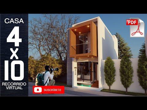 PLANOS DE CASA 4X10 I CASA DE 40M2 I CASA V30