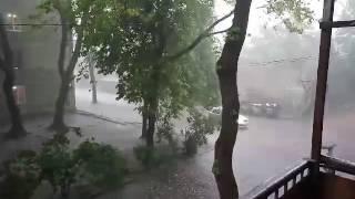 На Одессу тоже обрушился град