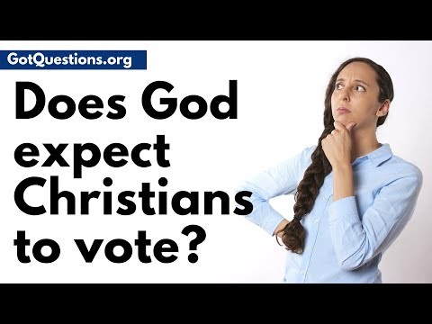 God quotes - Should Christians Vote?  Does God Expect Christians to Vote?  GotQuestions.org