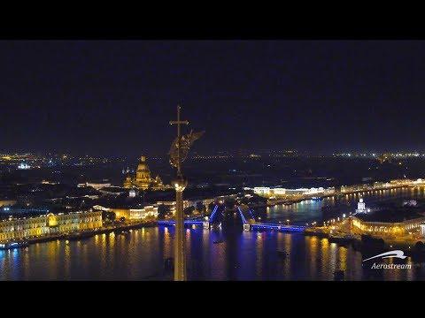 Санкт-Петербург ночью с воздуха St-Petersburg at night