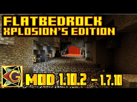FlatBedrock Xplosion's Edition  ¡Mas Diamantes!   Para 1.10.2 – 1.7.10   Mod Review En Español