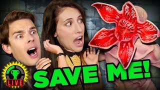 My FIRST Haunted House! The Halloween Horror Nights Haunted Maze CHALLENGE!