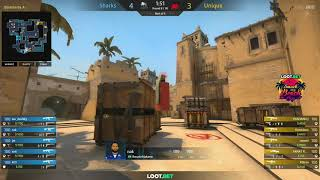 (RU) Sharks vs Unique | LOOT.BET Smack My Beach Cup | map 1 | by @Toll_tv & @AlexeyDeq