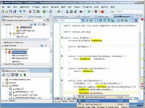 ADF Training | Performing Multiple Row Selection with Oracle ADF Tables
