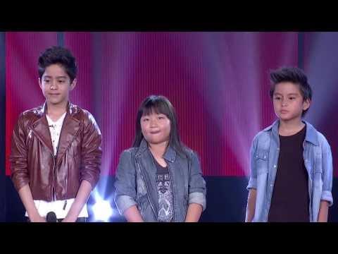 ใจนักเลง - The Voice Kids Thailand รอบ Battle วันที่ 9 Mar 2014 คาร์มัส - คาร์มัรร์อาลี บินดาโอ๊ะ VS นัท - ณัฐชา ไพรสำราญ VS บูมบูม -...