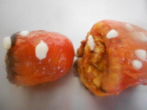 Chicken and Cheese Stuffed Tomato