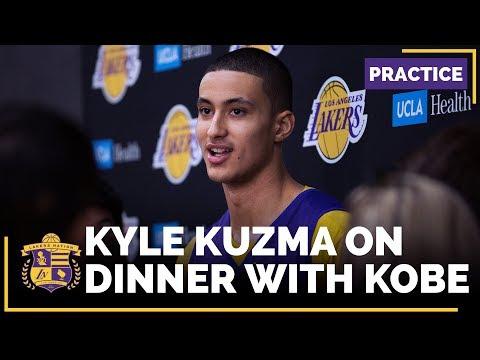 Video: Lakers Rookie Kyle Kuzma Has Dinner With Kobe Bryant