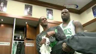 Shaquille O'Neal - Taking Care of Rajon Rondo (3/1/11)