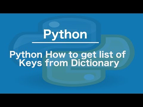 Python how to get list of keys from dictionary