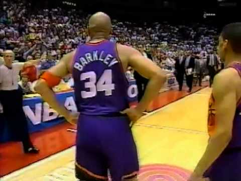 Barkley's Flagrant Foul on Hakeem, Maxwell Gets Ejected