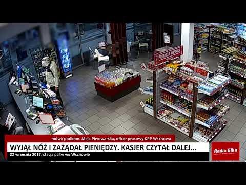 Wideo1: Wyjął nóż i zażądał pieniędzy. Kasjer czytał dalej...