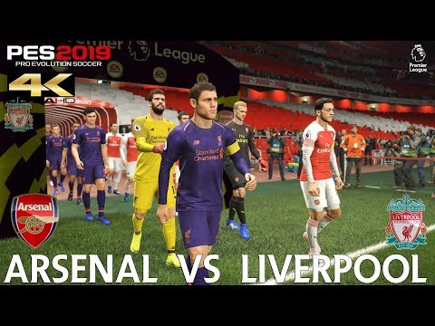 PES 2019 (PC) Arsenal Vs Liverpool | PREMIER LEAGUE MATCH PREDICTION | 3/11/2018| 4K 60FPS