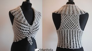 How To Crochet Easy Vest Bolero Shrug For Beginners Free Pattern Tutorial By Marifu6a