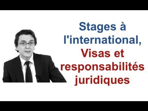 Stages à l'international, Visas et responsabilités juridiques
