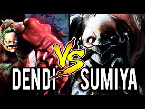 Dendi Vs SumiYa -  Dendi Pudge New Immortal Set vs SumiYa Impossible Hook Most Epic Battle Dota 2