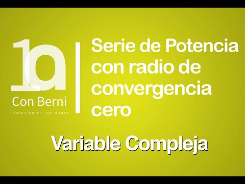 Serie de potencia con radio de convergencia cero 1