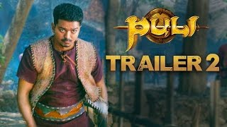 Nonton Puli   Official Trailer 2   Vijay  Sridevi  Sudeep  Shruti Haasan  Hansika Motwani Film Subtitle Indonesia Streaming Movie Download