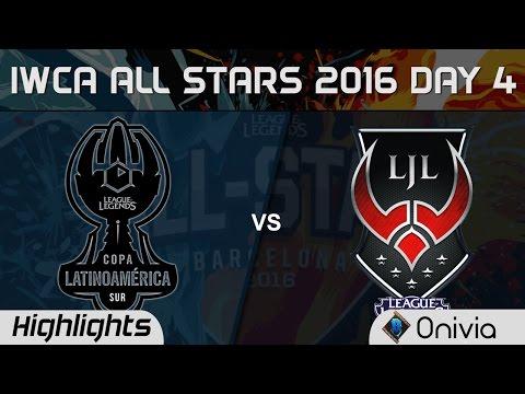 LAS vs LJL Highlights Game 3 IWCA Barcelona 2016 D4 Latin America South vs Japan