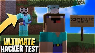 THE ULTIMATE HACKER TEST! (Minecraft Catching Hackers)