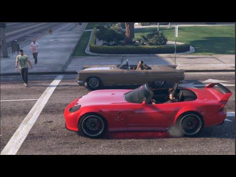GTA 5 Slidey Cars Drifting Banshee RED LIGHT!