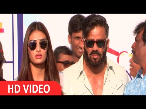 Xclusive Video :SunielShetty   AthiyaShetty   Charity Cricket Match   Differently Abled Children   UNCUT
